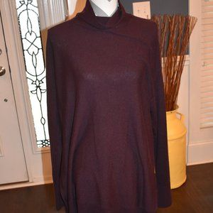 LOFT Burgundy Cowl Neck Sweater